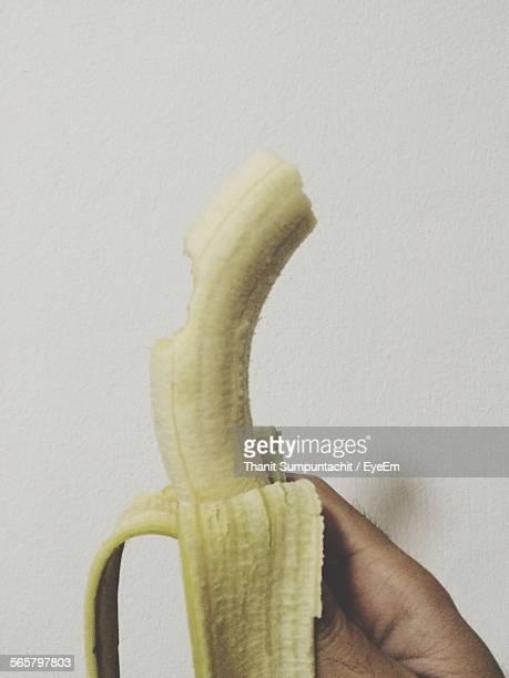 Close-Up Of Eaten Banana