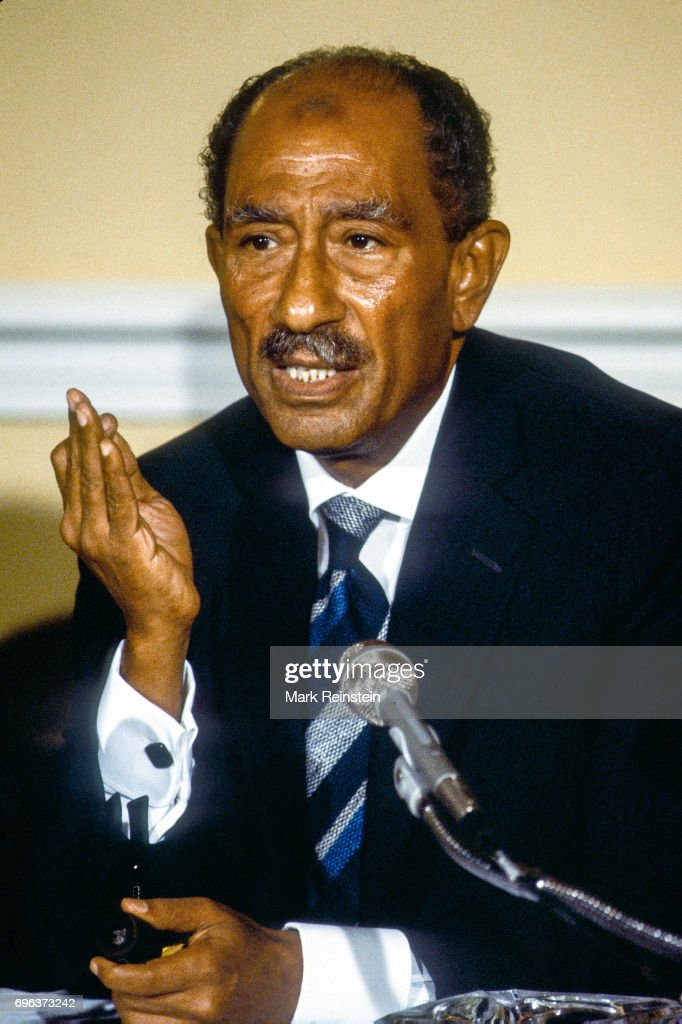 President Sadat In Blair House : News Photo