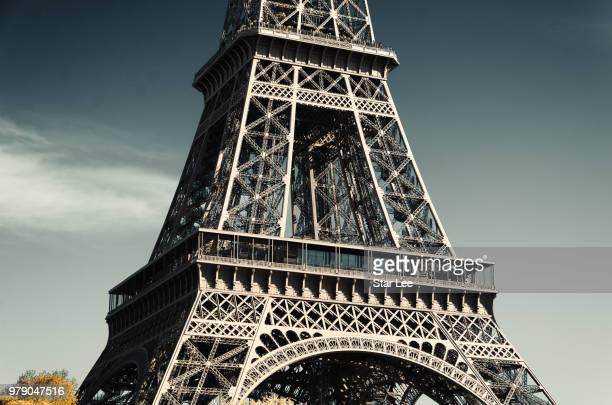 Close-up of Eiffel Tower, Paris, France