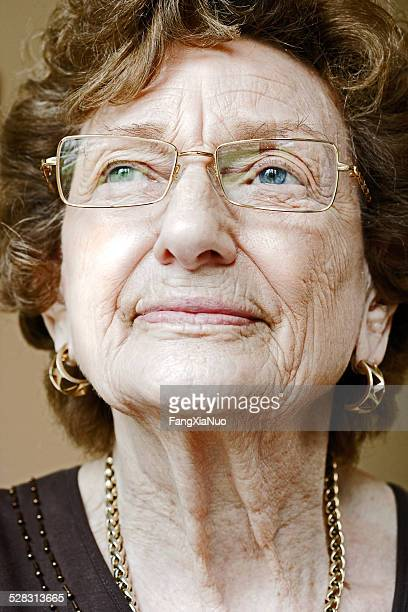 Close-up of Elderly Woman's Face