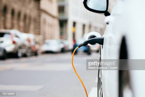 close-up of electric car - alternative fuel vehicle stock pictures, royalty-free photos & images