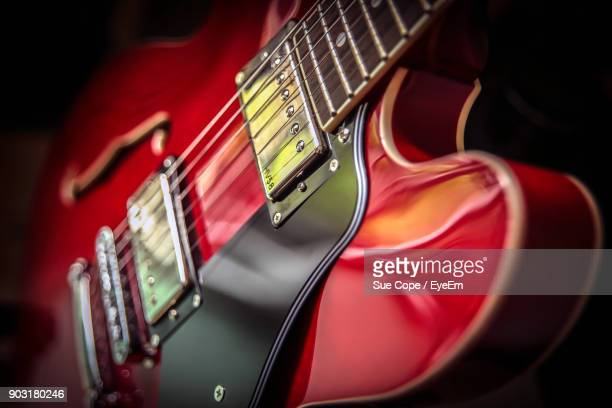 close-up of electric guitar - electric guitar stock pictures, royalty-free photos & images