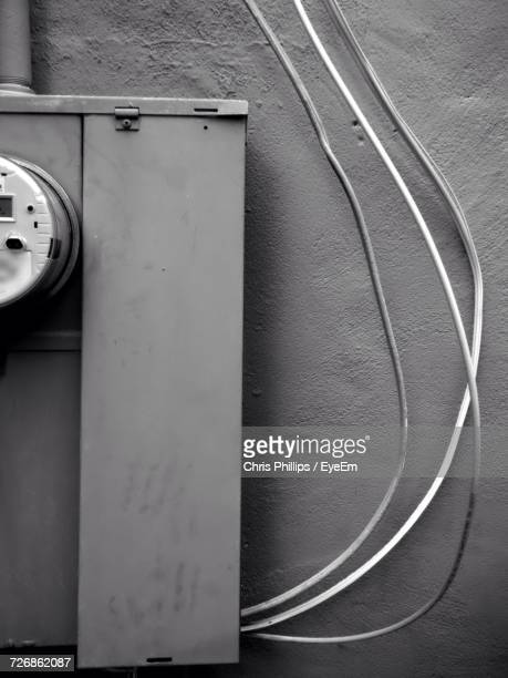 close-up of electrical box on wall - electrical box stock pictures, royalty-free photos & images