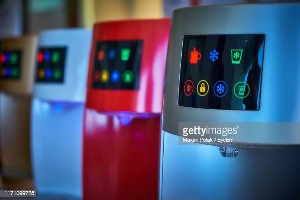 close-up of electrical equipment - time of day stock pictures, royalty-free photos & images