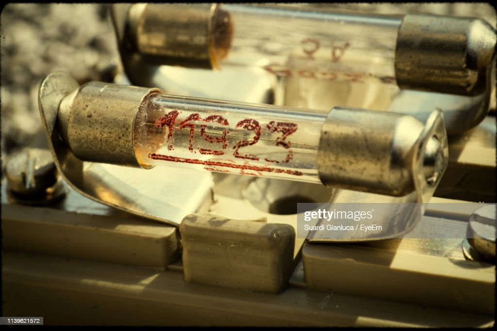 Close-Up Of Electrical Fuses : Stock Photo