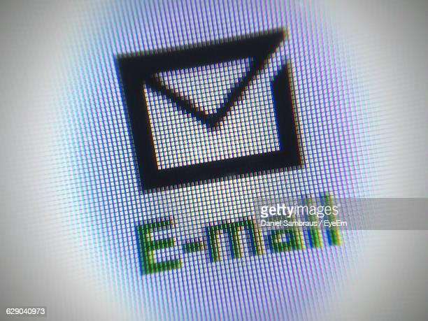 Close-Up Of E-Mail Sign