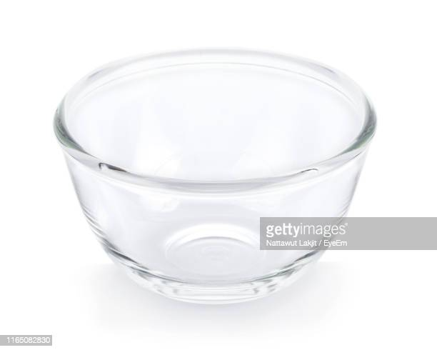 close-up of empty bowl against white background - 深皿 ストックフォトと画像