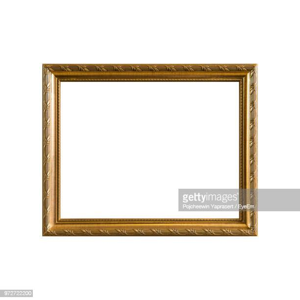 Close-Up Of Empty Frame Against White Background