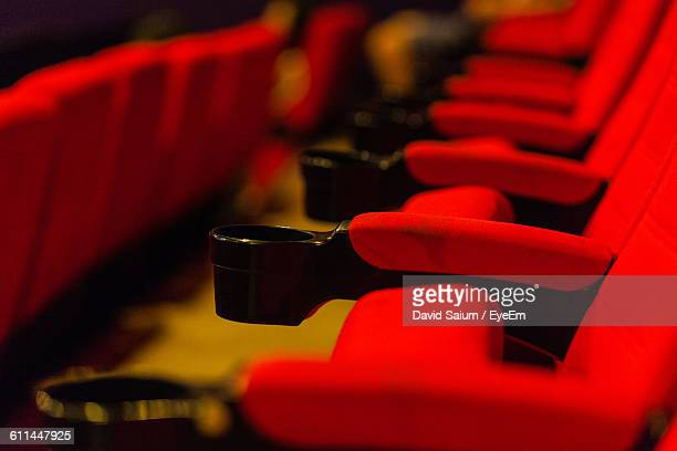 Close-Up Of Empty Seats In Movie Theater
