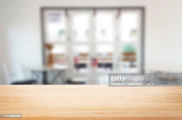 close-up of empty table - focus on foreground stock pictures, royalty-free photos & images