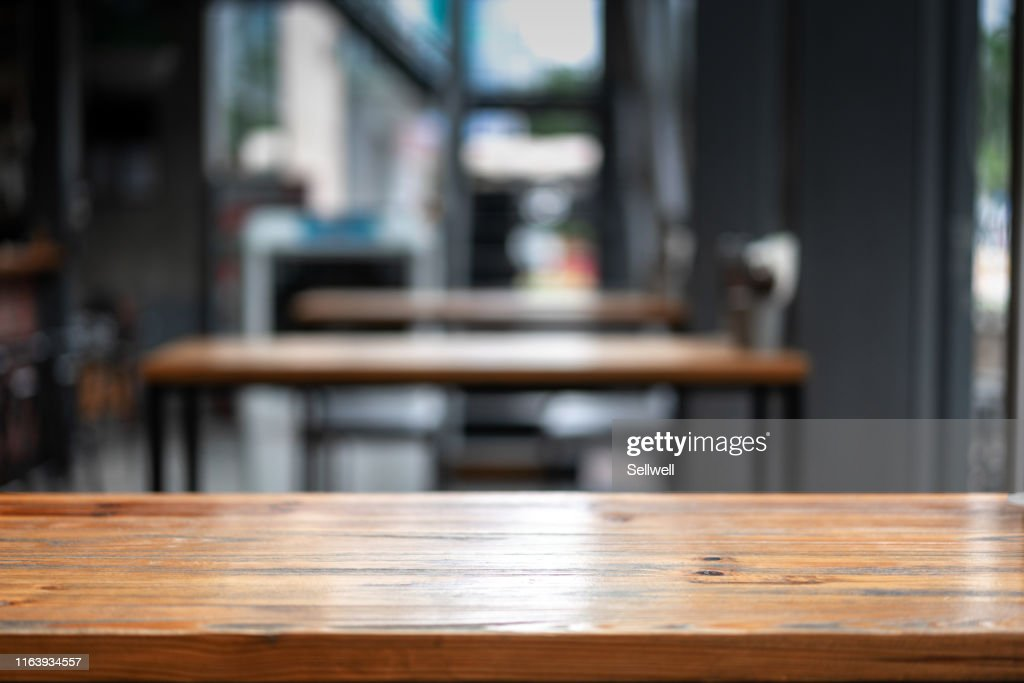Close-Up Of Empty Table : Stock Photo