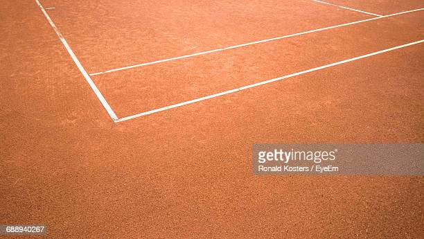 Close-Up Of Empty Tennis Court