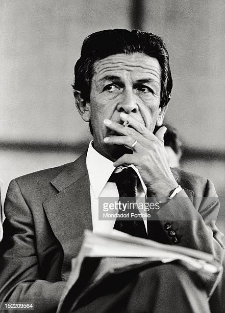 Closeup of Enrico Berlinguer general secretary of the Italian Communist Party from 1972 until 1984 during a debate on the last day of 'Festa...