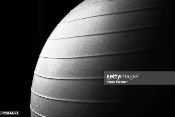 close-up of exercise ball - sportgerät stock-fotos und bilder