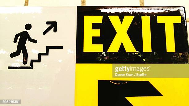 Close-Up Of Exit Sign