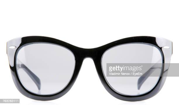 close-up of eyeglasses against white background - personal accessory stock pictures, royalty-free photos & images