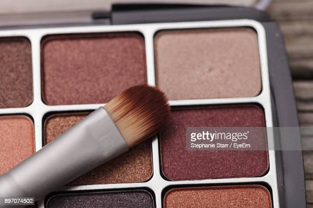 Close-Up Of Eyeshadow With Brush