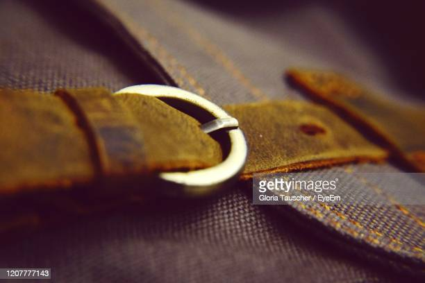 close-up of fabric and buckle - leather belt stock pictures, royalty-free photos & images