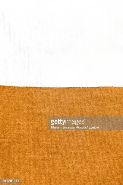 Close-Up Of Fabric On White Background