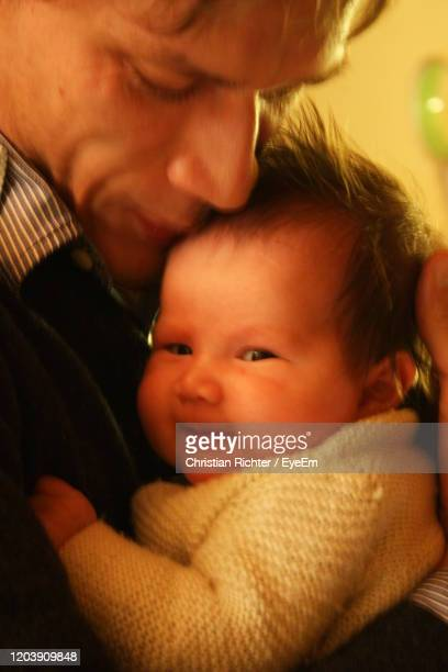 "close-up of father with daughter - ""christian richter"" stock pictures, royalty-free photos & images"
