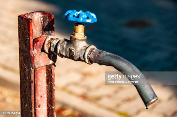 close-up of faucet - piotr hnatiuk stock pictures, royalty-free photos & images