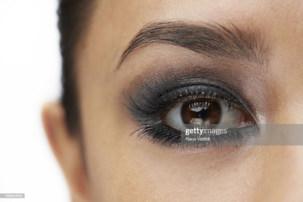 Close-up of female eye with make-up : Stock Photo