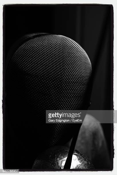 Close-Up Of Fencing Mask
