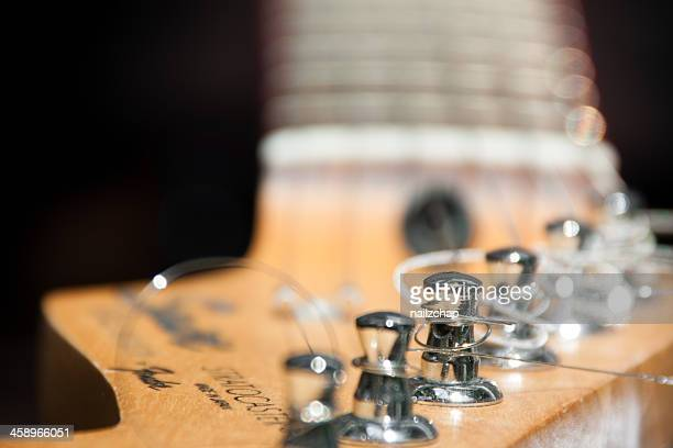 Closeup of Fender Stratocaster Guitar