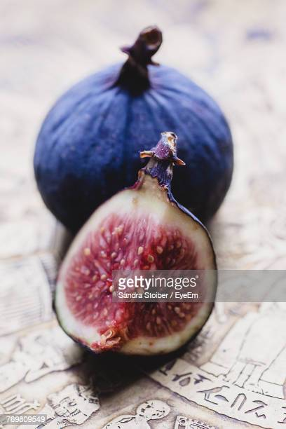 Close-Up Of Fig On Table