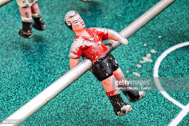 Close-Up Of Figurine At Foosball