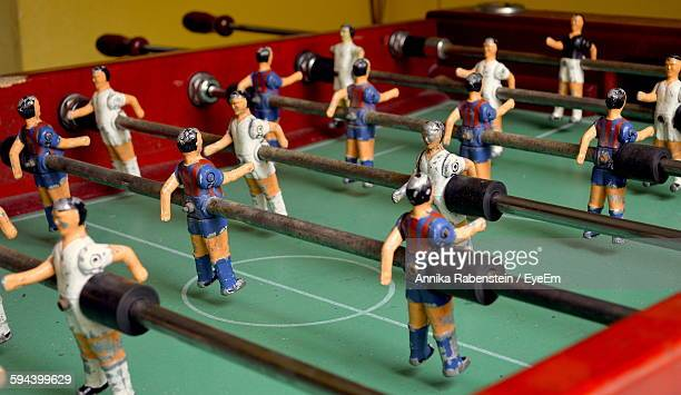 Close-Up Of Figurines In Foosball