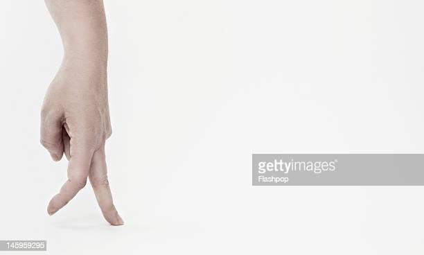 Close-up of fingers walking
