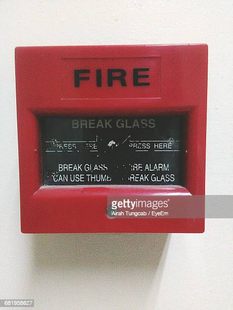 Close-Up Of Fire Alarm On Wall