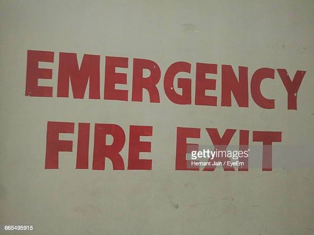 Close-Up Of Fire Exit Sign