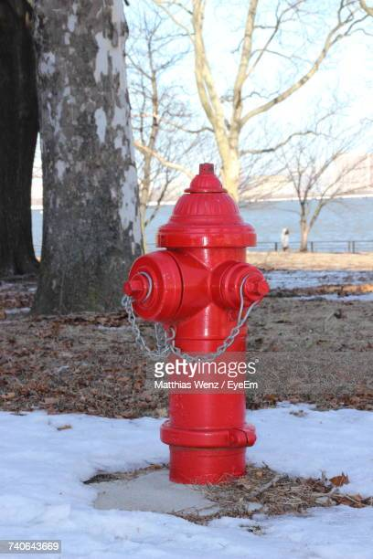 Close-Up Of Fire Hydrant During Winter