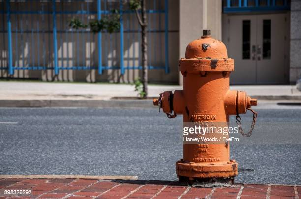 Close-Up Of Fire Hydrant On Street