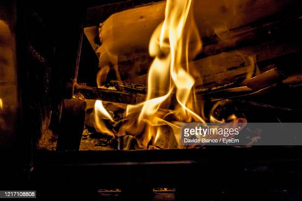 close-up of fire on wood - incense stock pictures, royalty-free photos & images