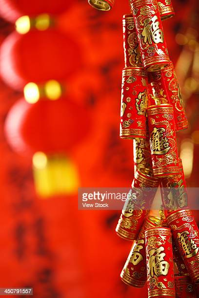 Close-up of firecrackers