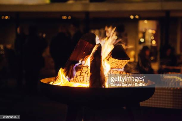 close-up of fireplace - fire pit stock pictures, royalty-free photos & images