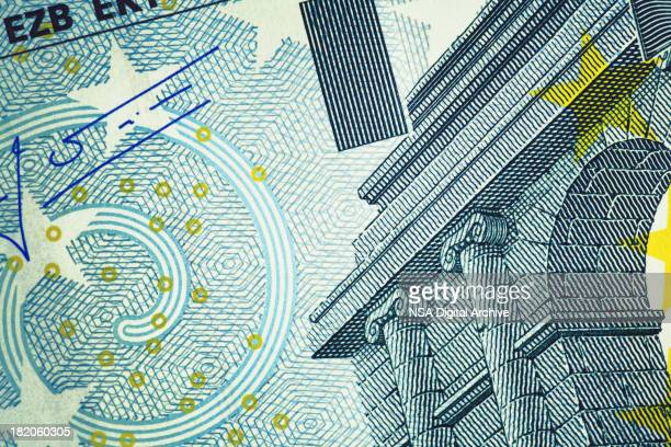 close-up of five euro banknote | finance and business - five euro banknote stock photos and pictures