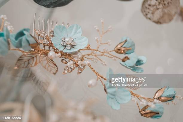 close-up of floral hair clip - aneta eyeem stock pictures, royalty-free photos & images
