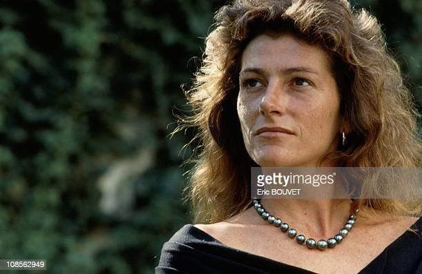 Closeup of Florence Arthaud in Paris France on August 06th 1990