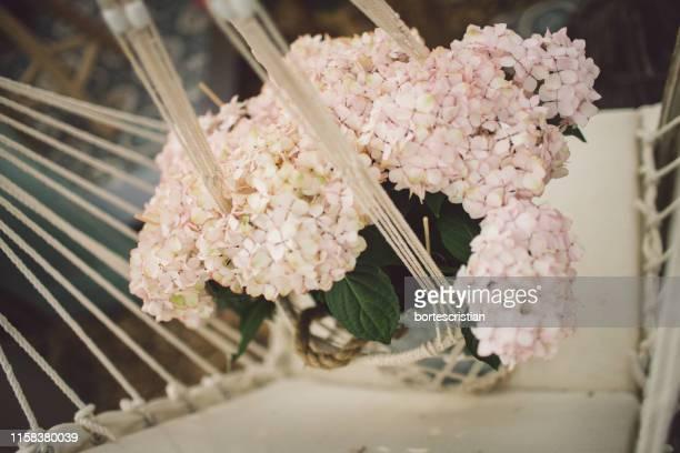 close-up of flower bouquet on hammock - bortes - fotografias e filmes do acervo