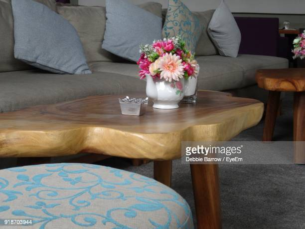 Close-Up Of Flower In Vase On Table At Home