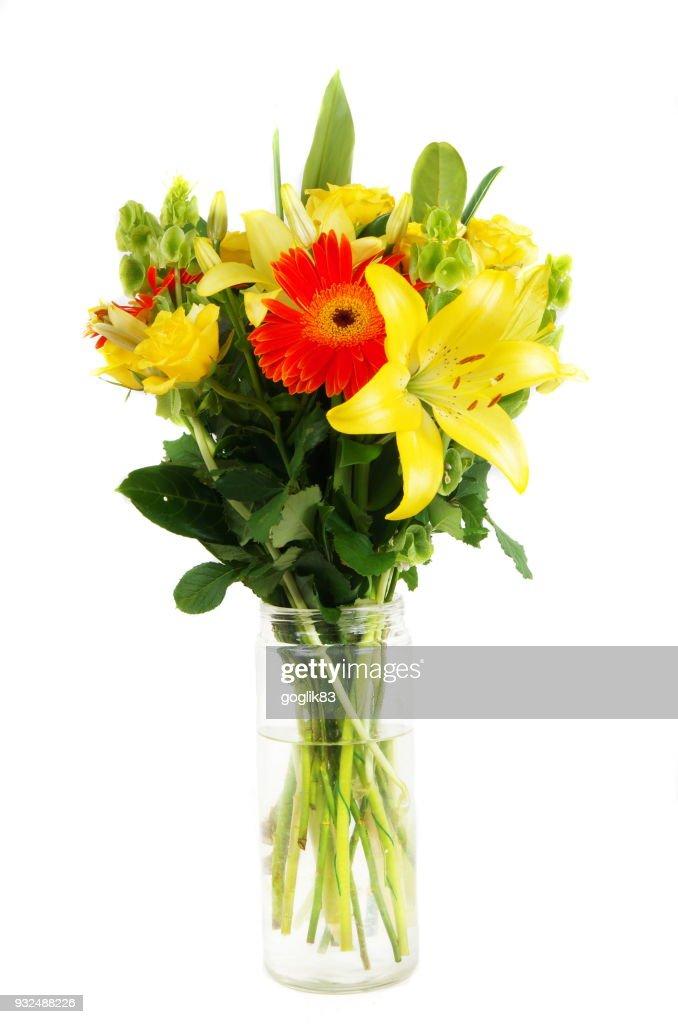 Close-Up Of Flower Vase Against White Background : Stock Photo