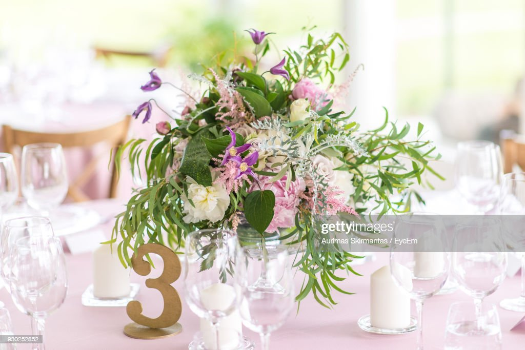 Closeup Of Flower Vase On Table Stock Photo Getty Images