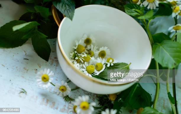 Close-Up Of Flowers In Bowl On Table