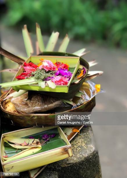 close-up of flowers - balinese culture stock pictures, royalty-free photos & images