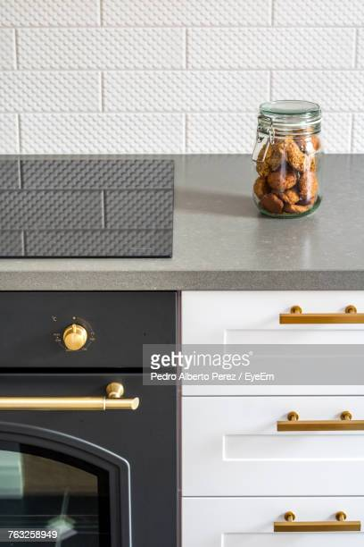 Close-Up Of Food In Jar On Kitchen Counter