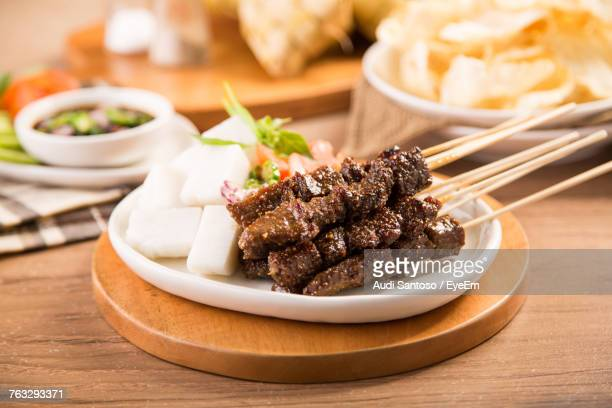 close-up of food in plate on table - java stock pictures, royalty-free photos & images